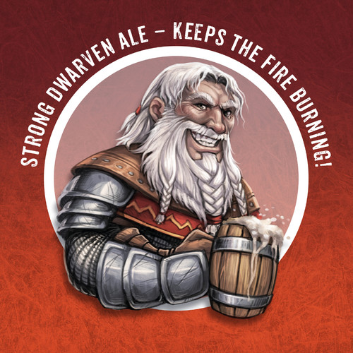 Strong dwarven Ale — keeps the fire burning!